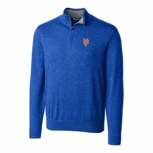 CUTTER & BUCK フロリダ ロゴ 青 ブルー メンズファッション コート ジャケット メンズ 【 Florida Gators Cutter And Buck Lakemont Vault Logo 1/2-zip Jacket - Blue 】 Blue