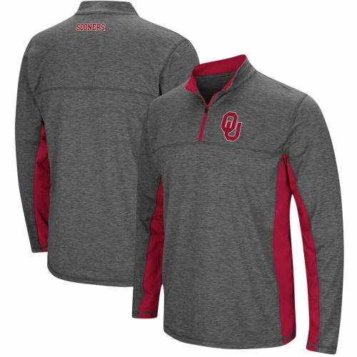 COLOSSEUM 【 OKLAHOMA SOONERS MILTON WINDSHIRT QUARTERZIP PULLOVER JACKET HEATHERED CHARCOAL 】 メンズファッション コート ジャケット 送料無料