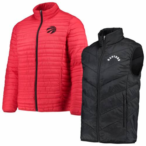G-III SPORTS BY CARL BANKS トロント ラプターズ システム ベスト メンズファッション コート ジャケット メンズ 【 Toronto Raptors Three And Out 3-in-1 System Full-zip Vest And Jacket Set - Red/black 】 Red/black