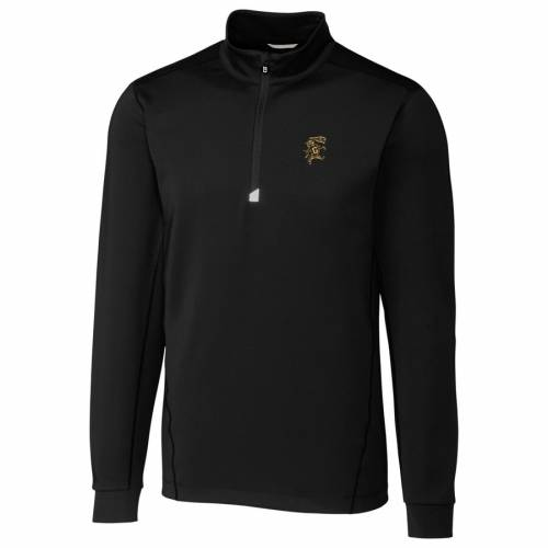 CUTTER & BUCK タイガース カレッジ 【 GRAMBLING TIGERS BIG TALL COLLEGE VAULT TRAVERSE QUARTERZIP PULLOVER JACKET BLACK 】 メンズファッション コート ジャケット 送料無料