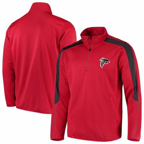 G-III SPORTS BY CARL BANKS アトランタ ファルコンズ 赤 レッド メンズファッション コート ジャケット メンズ 【 Atlanta Falcons I Formation Quarter-zip Pullover Jacket - Red 】 Red