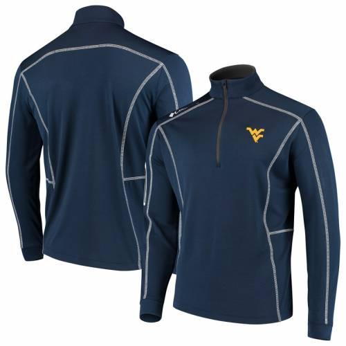 COLUMBIA GOLF バージニア 紺 ネイビー メンズファッション コート ジャケット メンズ 【 West Virginia Mountaineers Shotgun Quarter-zip Pullover Jacket - Navy 】 Navy