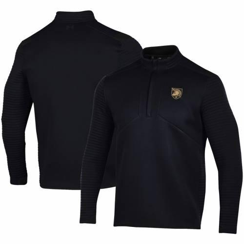 アンダーアーマー UNDER ARMOUR 黒 ブラック メンズファッション コート ジャケット メンズ 【 Army Black Knights Daytona Quarter-zip Jacket - Black 】 Black