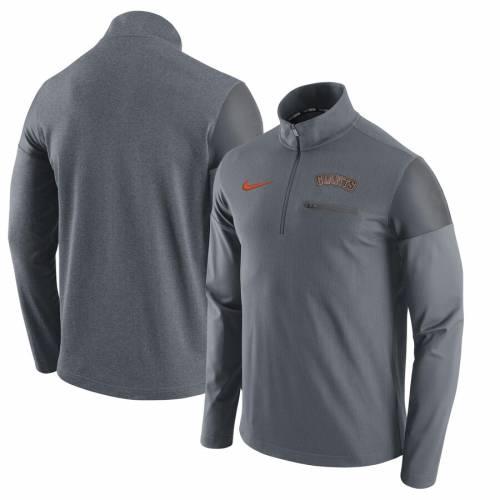 ナイキ NIKE ジャイアンツ エリート 灰色 グレー グレイ メンズファッション コート ジャケット メンズ 【 San Francisco Giants Elite Half-zip Pullover Jacket - Gray 】 Gray