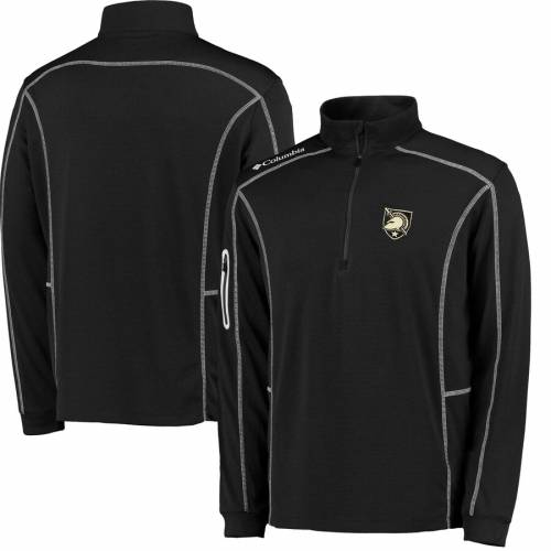 COLUMBIA GOLF 黒 ブラック メンズファッション コート ジャケット メンズ 【 Army Black Knights Shotgun Omni-wick Quarter-zip Pullover Jacket - Black 】 Black