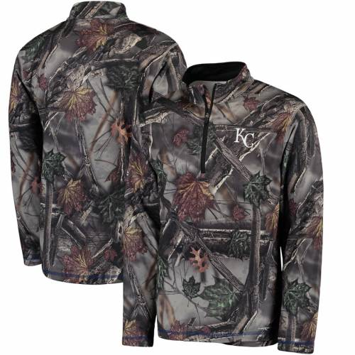 マジェスティック MAJESTIC カンザス シティ ロイヤルズ スウェット メンズファッション コート ジャケット メンズ 【 Kansas City Royals Sweat And Determination Half-zip Pullover Jacket -camo 】 Camo