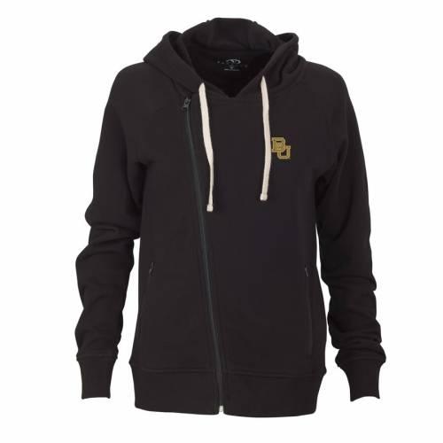VANTAGE APPAREL ベイラー ベアーズ レディース フリース 黒 ブラック 【 Baylor Bears Womens Fleece Moto Jacket - Black 】 Black