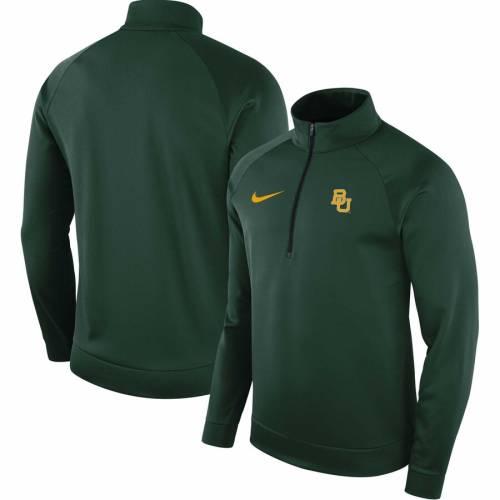 ナイキ NIKE ベイラー ベアーズ サーマ 緑 グリーン メンズファッション コート ジャケット メンズ 【 Baylor Bears Therma Top 1/2-zip Jacket - Green 】 Green