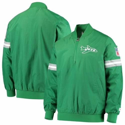 スターター STARTER ジェッツ 緑 グリーン メンズファッション コート ジャケット メンズ 【 New York Jets Throwback Jet Half-zip Pullover Jacket - Green 】 Green