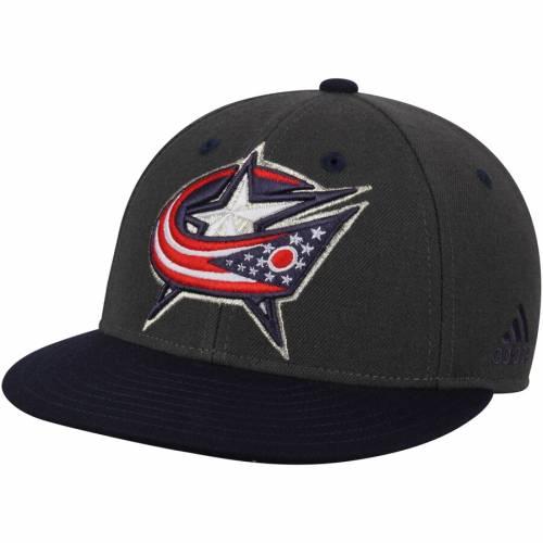 アディダス ADIDAS 青 ブルー バッグ キャップ 帽子 メンズキャップ メンズ 【 Columbus Blue Jackets Two Tone Fitted Hat - Gray/navy 】 Gray/navy