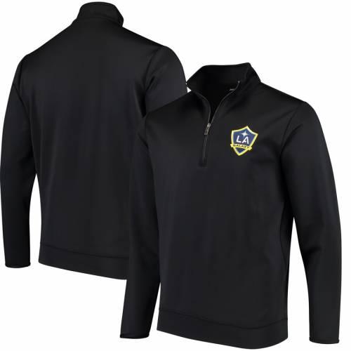 ANTIGUA 黒 ブラック メンズファッション コート ジャケット メンズ 【 La Galaxy Leader Quarter-zip Pullover Jacket - Black 】 Black