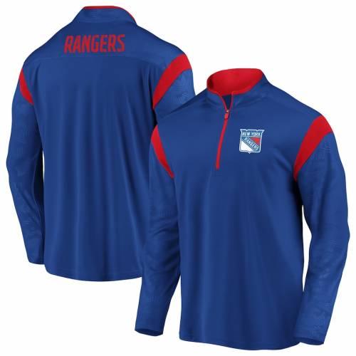 FANATICS BRANDED レンジャーズ 青 ブルー メンズファッション コート ジャケット メンズ 【 New York Rangers Mission Half-zip Pullover Jacket - Blue 】 Blue