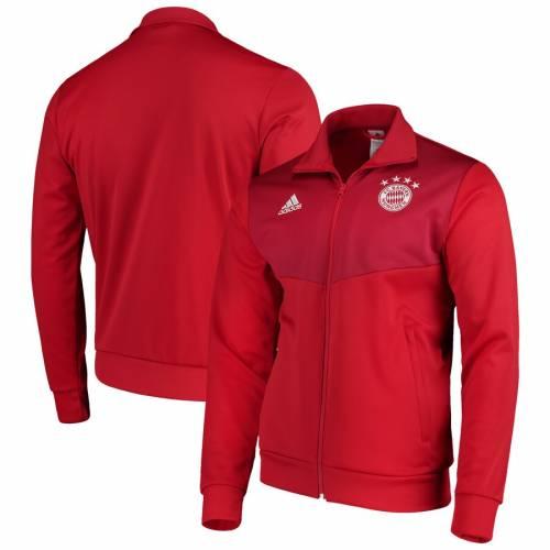アディダス ADIDAS トラック 赤 レッド メンズファッション コート ジャケット メンズ 【 Bayern Munich Three-stripe Tango Full-zip Track Jacket - Red 】 Red