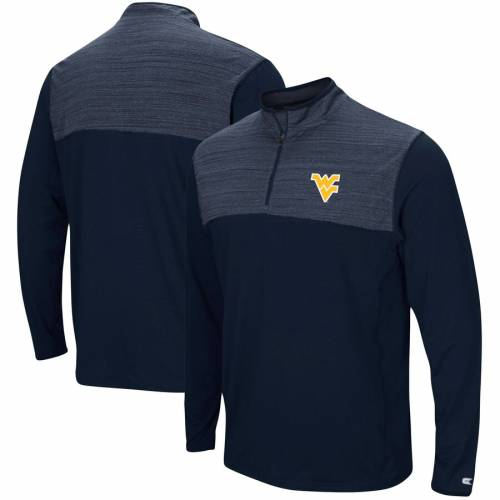 COLOSSEUM バージニア 紺 ネイビー メンズファッション コート ジャケット メンズ 【 West Virginia Mountaineers Big And Tall Savoy Quarter-zip Pullover Jacket - Navy/heathered Navy 】 Navy/heathered Navy