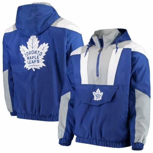 スターター STARTER トロント 青 ブルー メンズファッション コート ジャケット メンズ 【 Toronto Maple Leafs Striker Hooded Half-zip Jacket - Blue 】 Blue