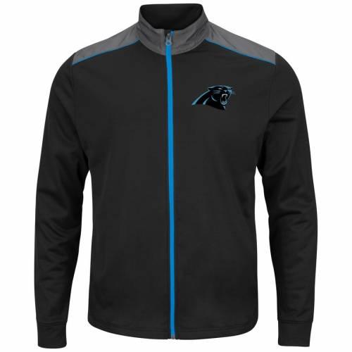 マジェスティック MAJESTIC カロライナ パンサーズ チーム テック 黒 ブラック メンズファッション コート ジャケット メンズ 【 Carolina Panthers Team Tech Full-zip Jacket - Black 】 Black