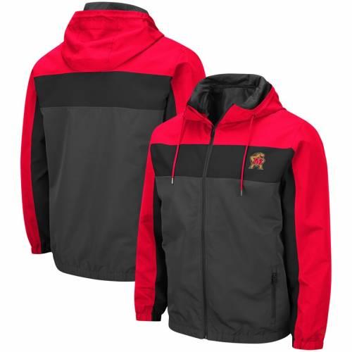 COLOSSEUM メリーランド チャコール メンズファッション コート ジャケット メンズ 【 Maryland Terrapins Brockman Full-zip Jacket - Charcoal 】 Charcoal