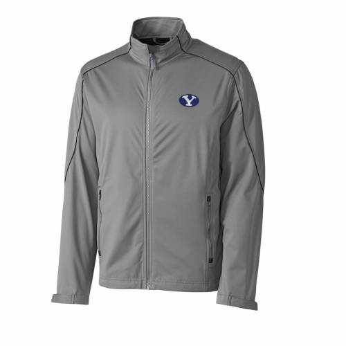 CUTTER & BUCK ブリガムヤング 灰色 グレー グレイ メンズファッション コート ジャケット メンズ 【 Byu Cougars Cutter And Buck Big And Tall Weathertec Opening Day Full Zip Jacket - Gray 】 Gray