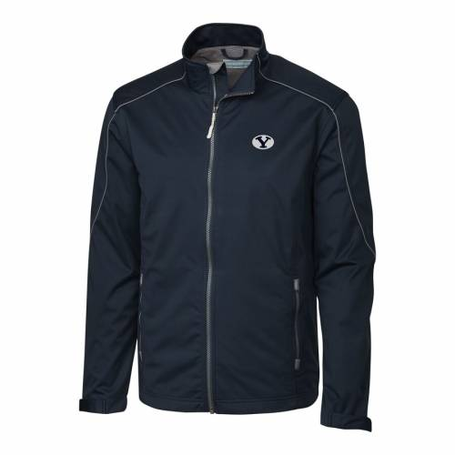 CUTTER & BUCK ブリガムヤング 灰色 グレー グレイ メンズファッション コート ジャケット メンズ 【 Byu Cougars Cutter And Buck Big And Tall Weathertec Opening Day Full Zip Jacket - Gray 】 Navy