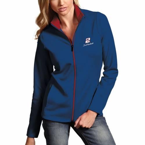 ANTIGUA レディース 紺 ネイビー 【 Brad Keselowski Womens Leader Full Zip Jacket - Navy 】 Navy