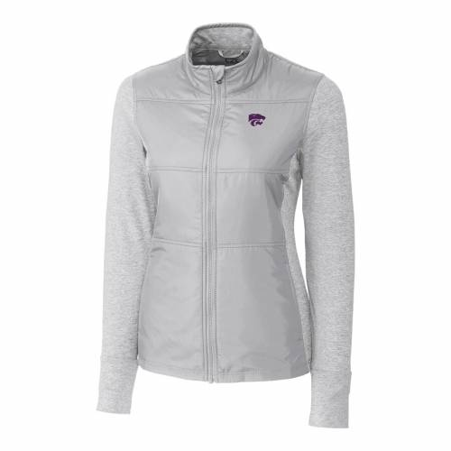 CUTTER & BUCK カンザス スケートボード レディース ステルス 灰色 グレー グレイ 【 Kansas State Wildcats Cutter And Buck Womens Stealth Full-zip Jacket - Gray 】 Gray