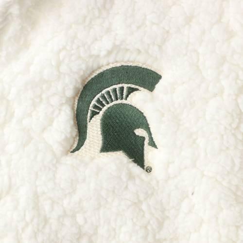 BOXERCRAFT ミシガン スケートボード レディース クリーム 【 Michigan State Spartans Womens Plus Size Sherpa Full-zip Jacket - Cream 】 Cream