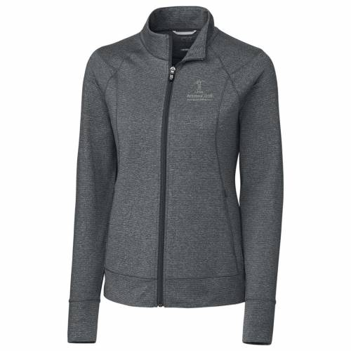 CUTTER & BUCK ゴルフ レディース ヘザー 灰色 グレー グレイ 【 Lpga Amateur Golf Association Cutter And Buck Womens Shoreline Full-zip Jacket - Heather Gray 】 Heather Gray