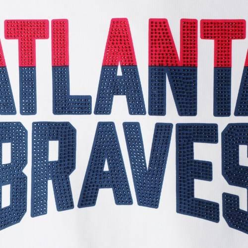 G-III 4HER BY CARL BANKS アトランタ ブレーブス レディース ゲーム トラック 白 ホワイト 【 Atlanta Braves Womens Game Score Full-zip Track Jacket - White 】 White