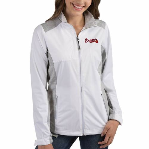 ANTIGUA アトランタ ブレーブス レディース 紺 ネイビー 【 Atlanta Braves Womens Revolve Full-zip Jacket - Navy 】 White