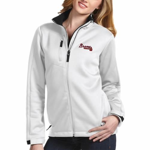 ANTIGUA アトランタ ブレーブス レディース 紺 ネイビー 【 Atlanta Braves Womens Traverse Jacket - Navy 】 White