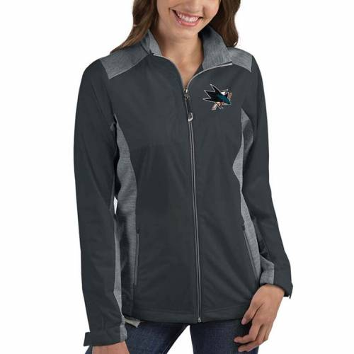 ANTIGUA レディース チャコール 【 San Jose Sharks Womens Revolve Full-zip Jacket - Charcoal 】 Charcoal