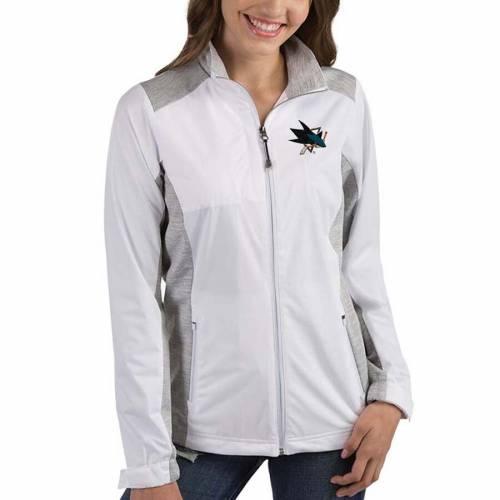 ANTIGUA レディース チャコール 【 San Jose Sharks Womens Revolve Full-zip Jacket - Charcoal 】 White