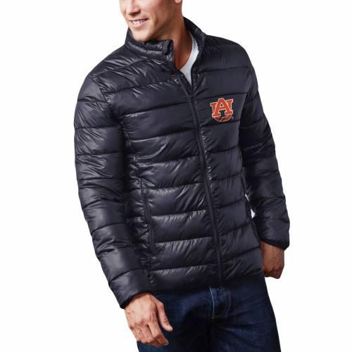 FANATICS BRANDED タイガース 紺 ネイビー メンズファッション コート ジャケット メンズ 【 Auburn Tigers Puffer Full-zip Jacket - Navy 】 Navy