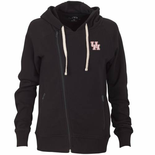 VANTAGE APPAREL ヒューストン レディース フリース 黒 ブラック 【 Houston Cougars Womens Fleece Moto Jacket - Black 】 Black