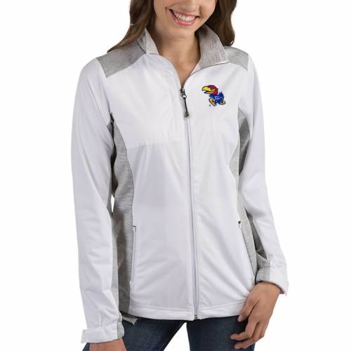 ANTIGUA カンザス レディース 【 Kansas Jayhawks Womens Revolve Full-zip Jacket - Royal 】 White