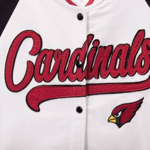 ニューエラ NEW ERA アリゾナ カーディナルス レディース 【 Arizona Cardinals Womens Varsity Full Snap Jacket - White/black 】 White/black