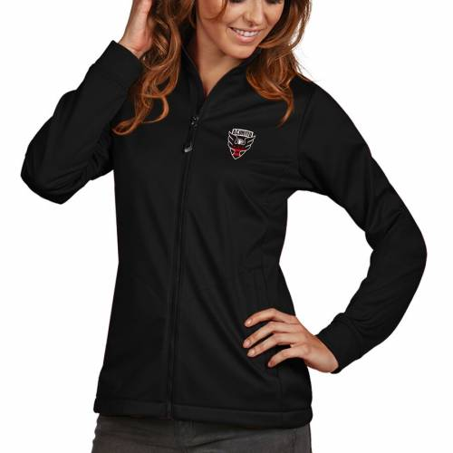 ANTIGUA レディース ゴルフ 黒 ブラック D.c. 【 D.c. United Womens Golf Full Zip Jacket - Black 】 Black