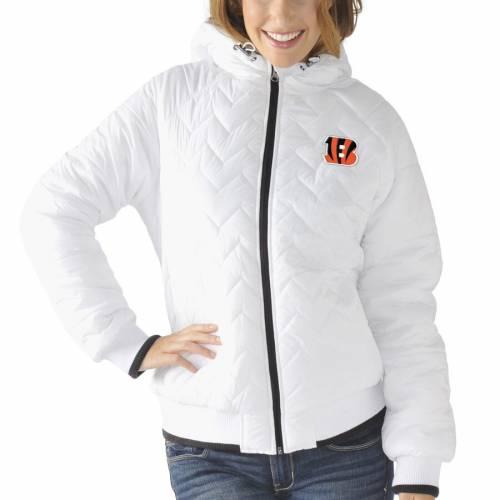 G-III 4HER BY CARL BANKS シンシナティ ベンガルズ レディース 白 ホワイト 【 Cincinnati Bengals Womens Drop Back Hooded Full-zip Jacket - White 】 White