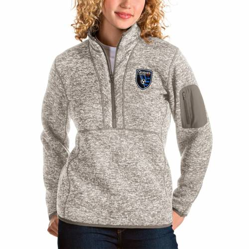 ANTIGUA レディース 【 San Jose Earthquakes Womens Fortune Quarter-zip Pullover Jacket - Tan 】 Tan