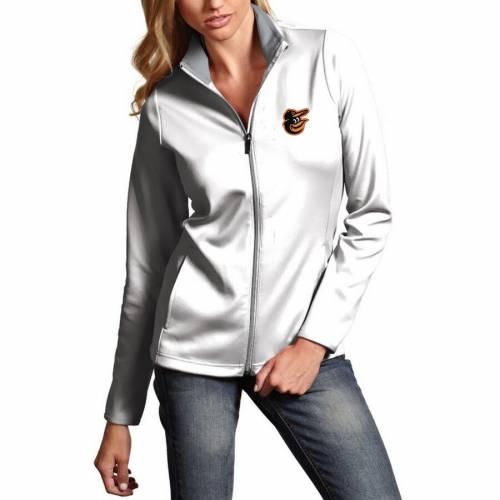 ANTIGUA ボルティモア オリオールズ レディース 白 ホワイト 【 Baltimore Orioles Womens Leader Full-zip Jacket - White 】 White