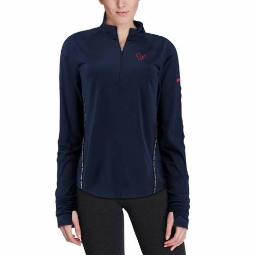 ナイキ NIKE ヒューストン テキサンズ レディース コア 紺 ネイビー 【 Houston Texans Womens Core Half-zip Pullover Jacket - Navy 】 Navy