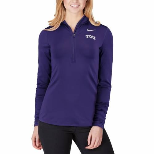 ナイキ NIKE レディース パフォーマンス 紫 パープル 【 Tcu Horned Frogs Womens Top Backprint Half-zip Pullover Performance Jacket - Purple 】 Purple