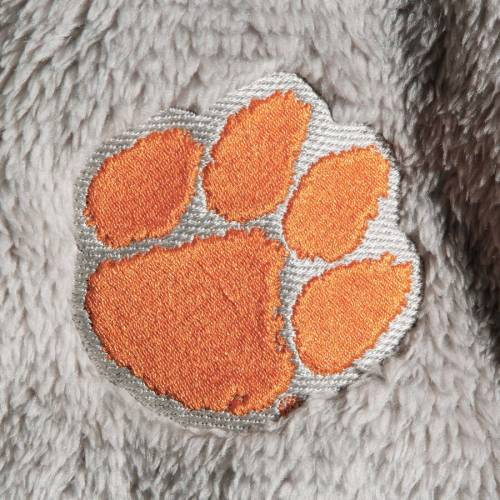 BOXERCRAFT タイガース レディース フリース 【 Clemson Tigers Womens Fuzzy Fleece Colorblocked Four-snap Pullover Jacket - Gray/white 】 Gray/white