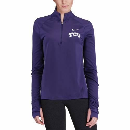 ナイキ NIKE レディース エレメント コア 紫 パープル 【 Tcu Horned Frogs Womens Element Core 1/2 Zip Jacket - Purple 】 Purple