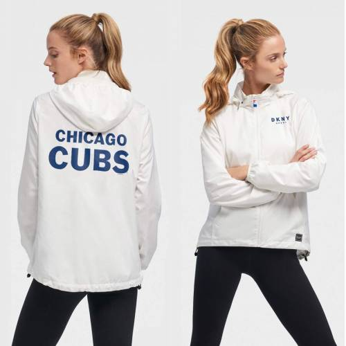 DKNY SPORT シカゴ カブス レディース スタジアム 白 ホワイト 【 Chicago Cubs Womens The Stadium Full-zip Jacket - White 】 White