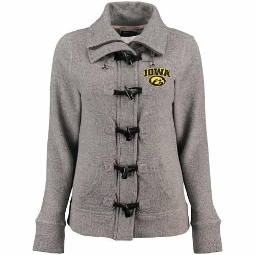 RENU レディース ヘザー 灰色 グレー グレイ 【 Iowa Hawkeyes Womens Nantucket Toggle Zip Jacket - Heather Gray 】 Heather Gray
