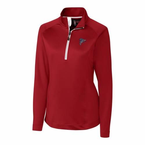 【スーパーセール中! 6/11深夜2時迄】CUTTER & BUCK アトランタ ファルコンズ レディース 赤 レッド 【 Atlanta Falcons Cutter And Buck Womens Americana Jackson Half-zip Overknit Pullover Jacket - Red 】 Red
