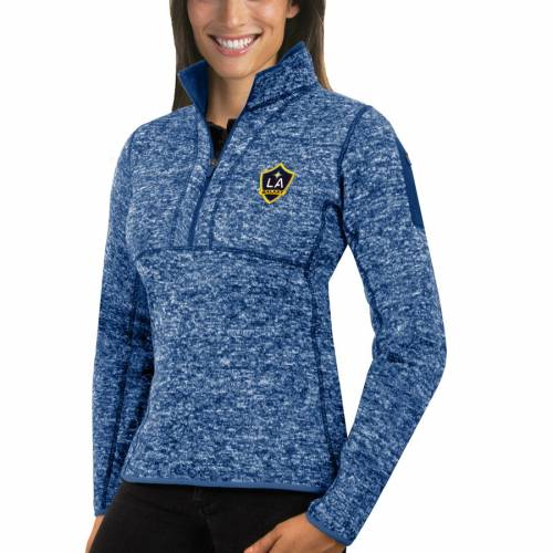 ANTIGUA レディース 【 La Galaxy Womens Fortune Quarter-zip Pullover Jacket - Royal 】 Royal