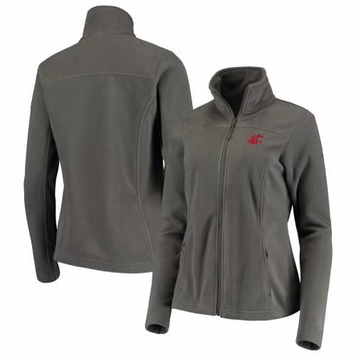 コロンビア COLUMBIA ワシントン スケートボード レディース フリース チャコール 【 Washington State Cougars Womens Give And Go Ii Fleece Full-zip Jacket - Charcoal 】 Charcoal