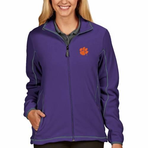 ANTIGUA タイガース レディース 紫 パープル 【 Clemson Tigers Womens Ice Full-zip Jacket - Purple 】 Purple